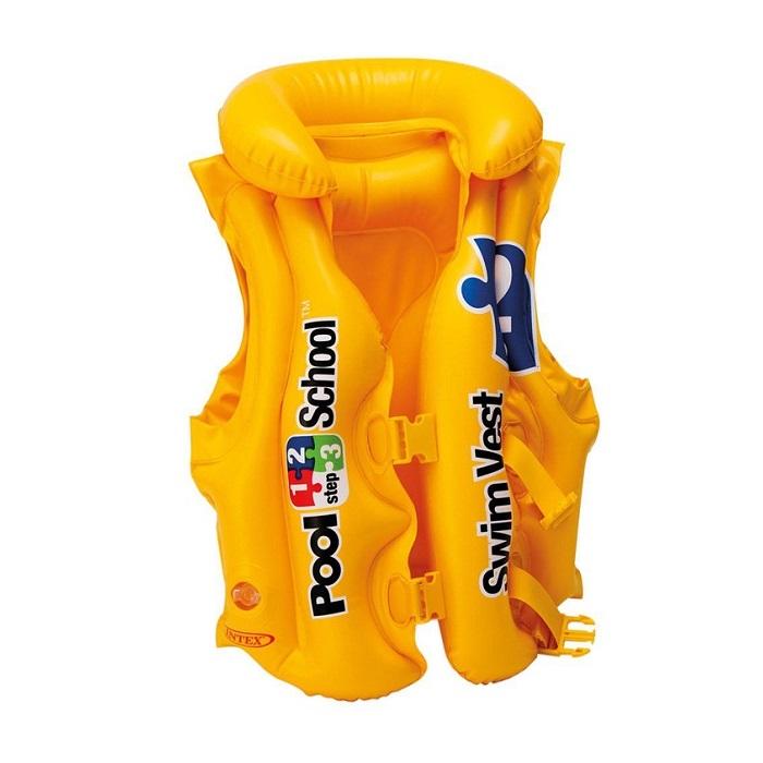 Simväst barn Intex Pool School gul