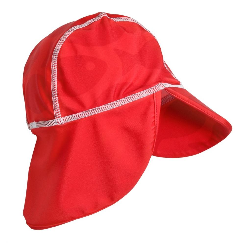 UV-hatt Swimpy Solid Fish röd