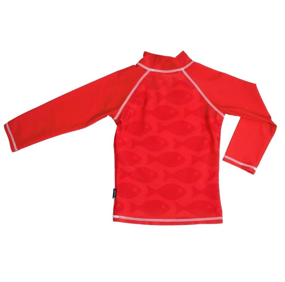 UV-tröja Swimpy Solid Fish röd