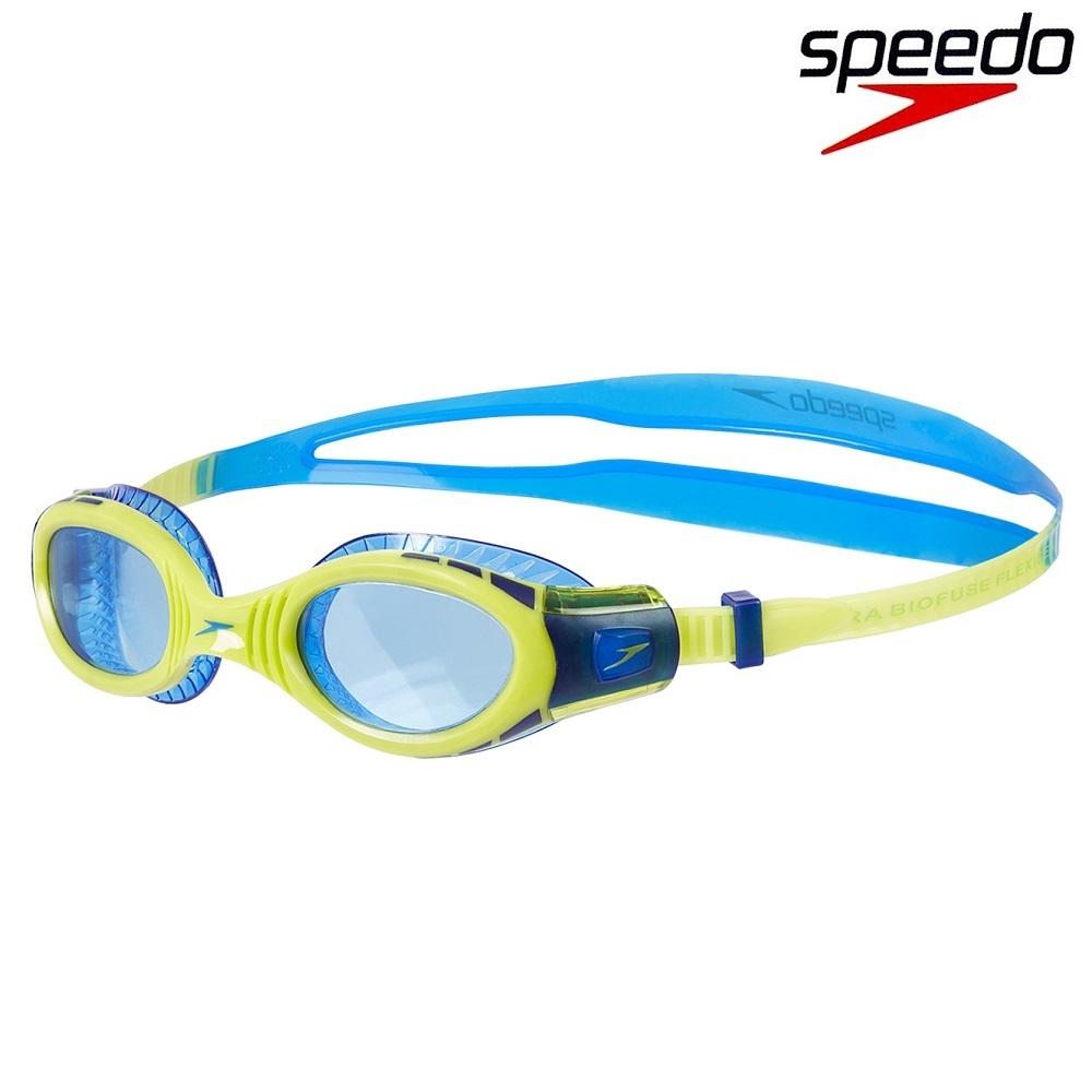 Simglasögon barn Speedo Biofuse blå och gula