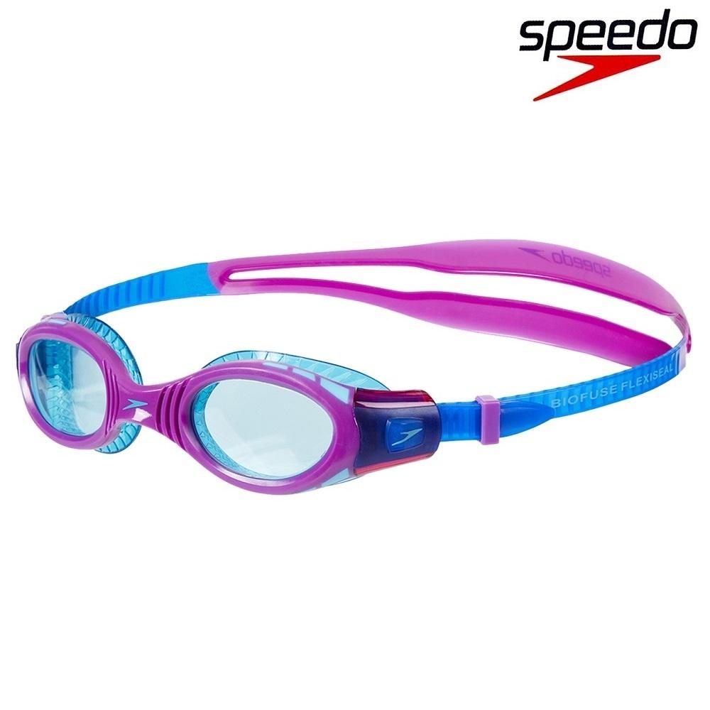 Simglasögon barn Speedo Biofuse lila och blå