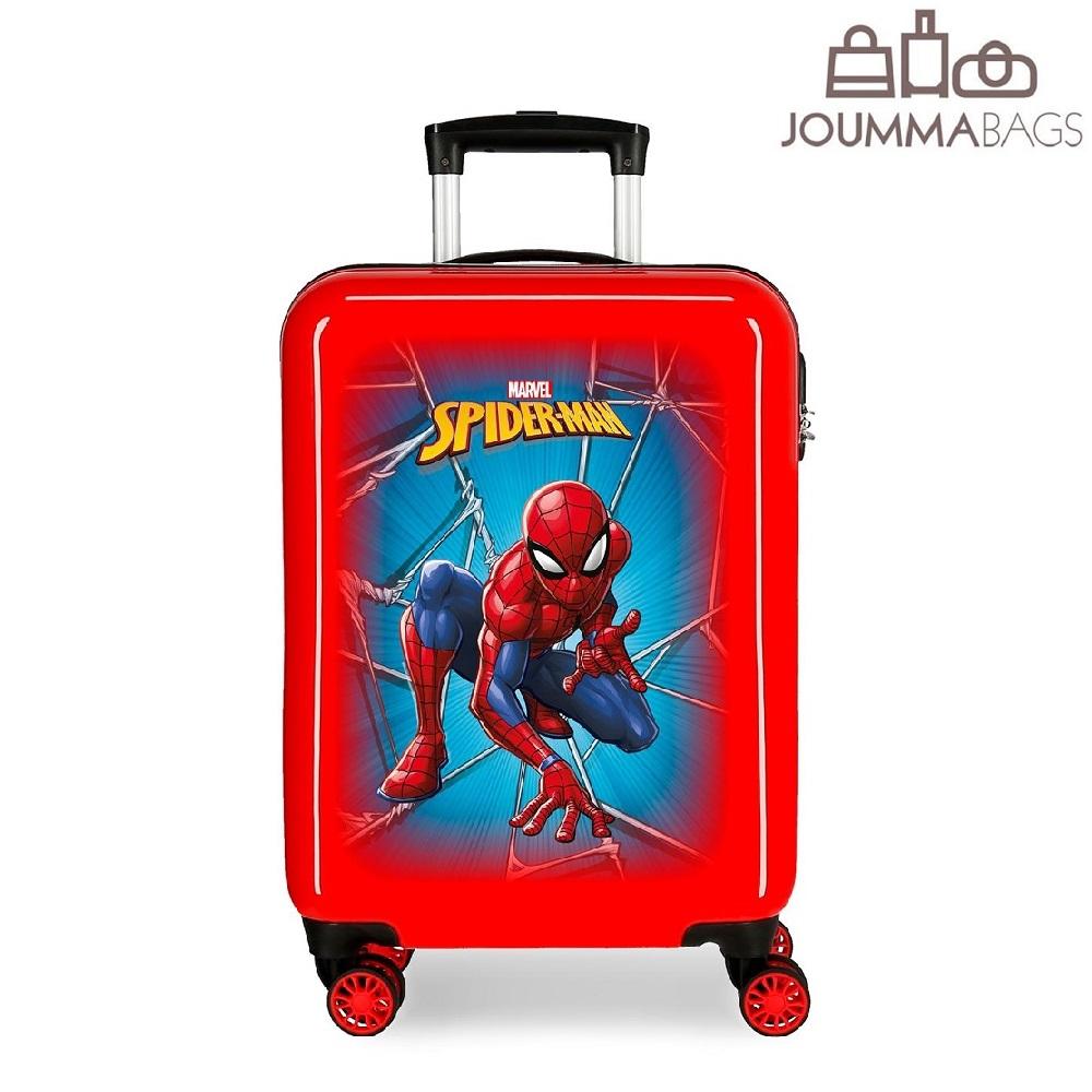Spiderman resväska barn röd och blå ABS