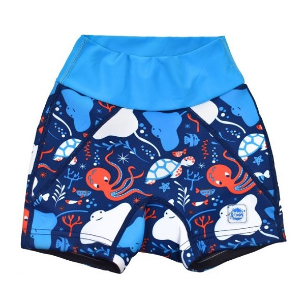 Blöjbadbyxor SplashAbout Splash Jammers Under the Sea blå