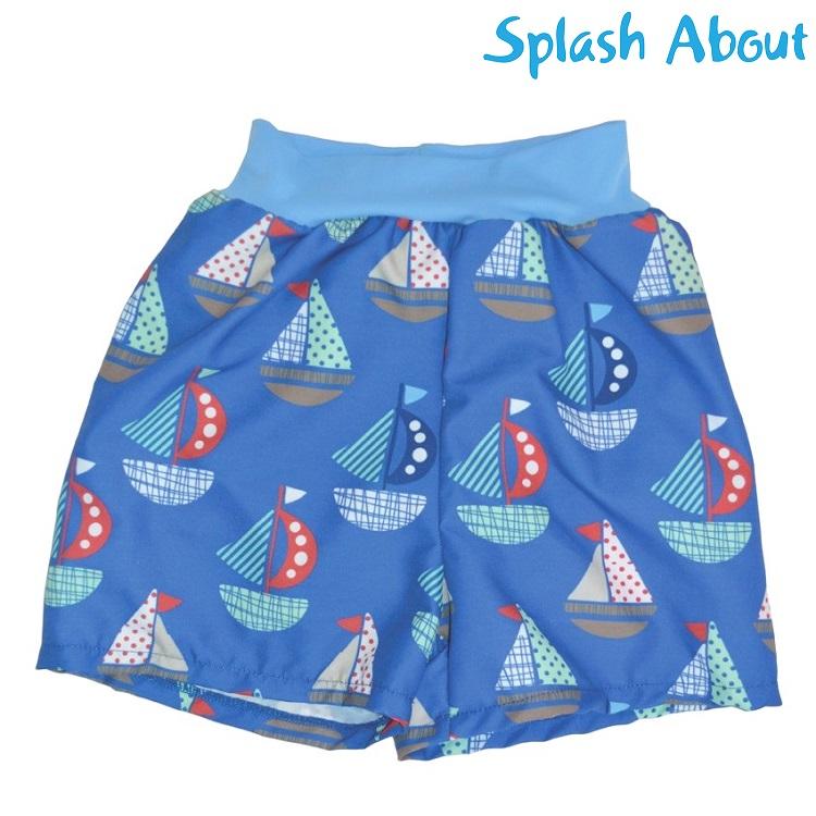 Blöjbadbyxor SplashAbout Set Sails blå