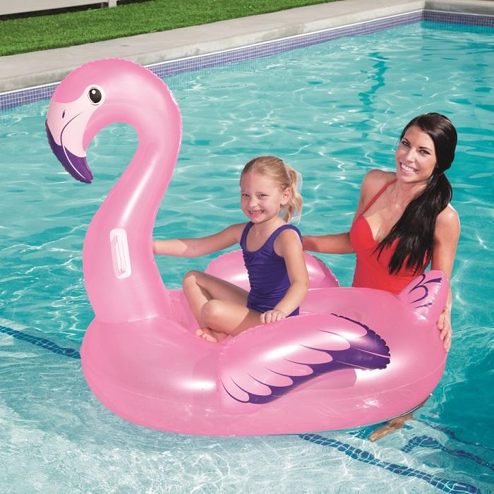 Vattenleksak Bestway uppblåsbart baddjur flamingo XL