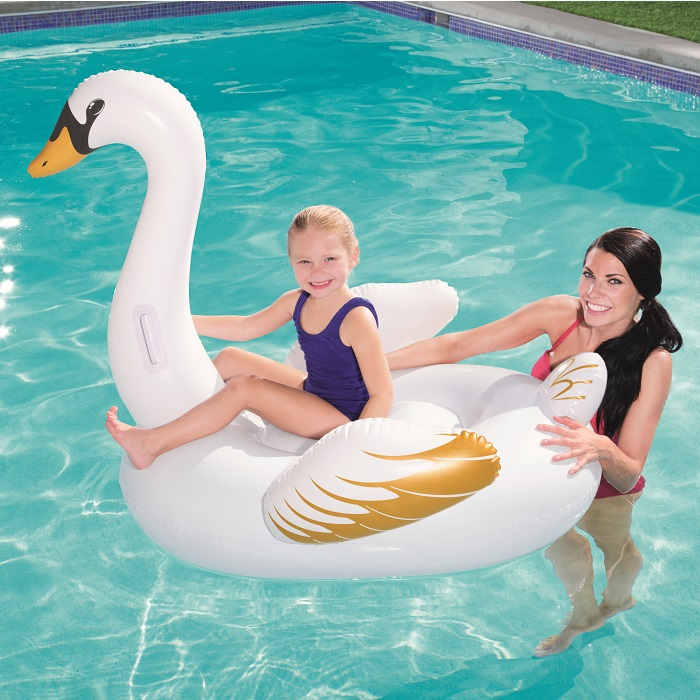 Vattenleksak Bestway uppblåsbart baddjur svan XL