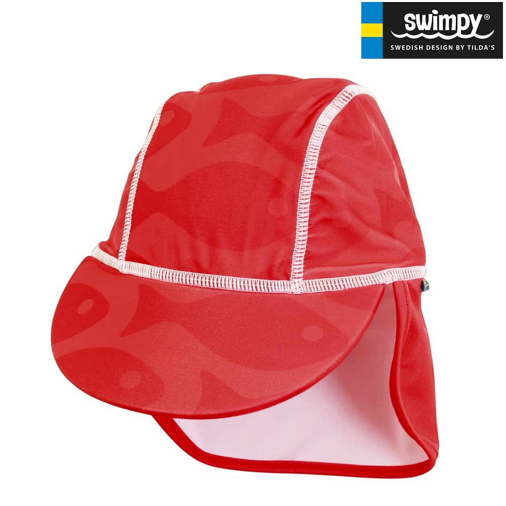 UV-hatt Swimpy Solid Fish Red
