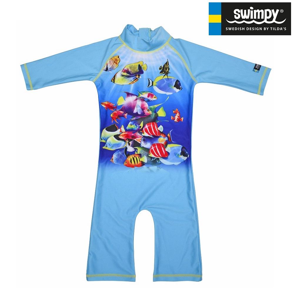 UV-dräkt Swimpy Fiskar blå