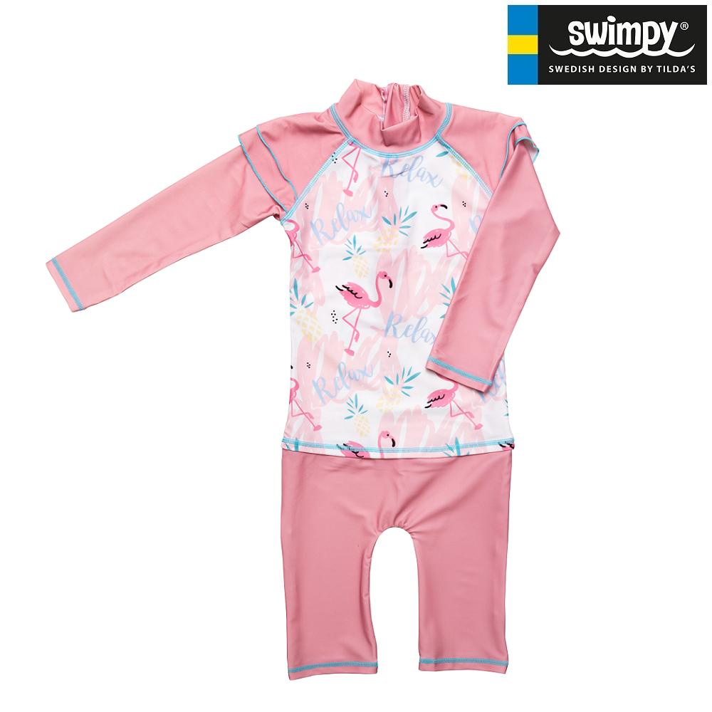 UV-dräkt för barn Swimpy Flamingo rosa