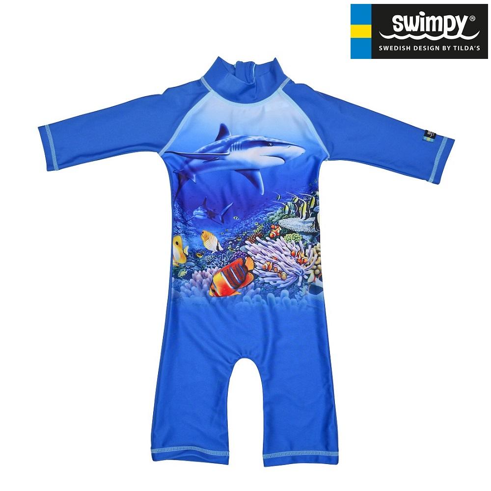 UV-dräkt Swimpy Haj blå