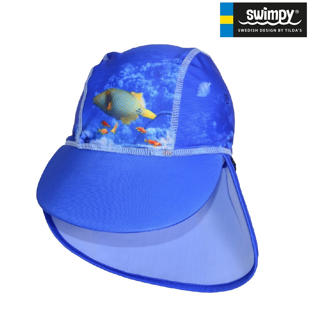UV-hatt Swimpy Coral Reef blå
