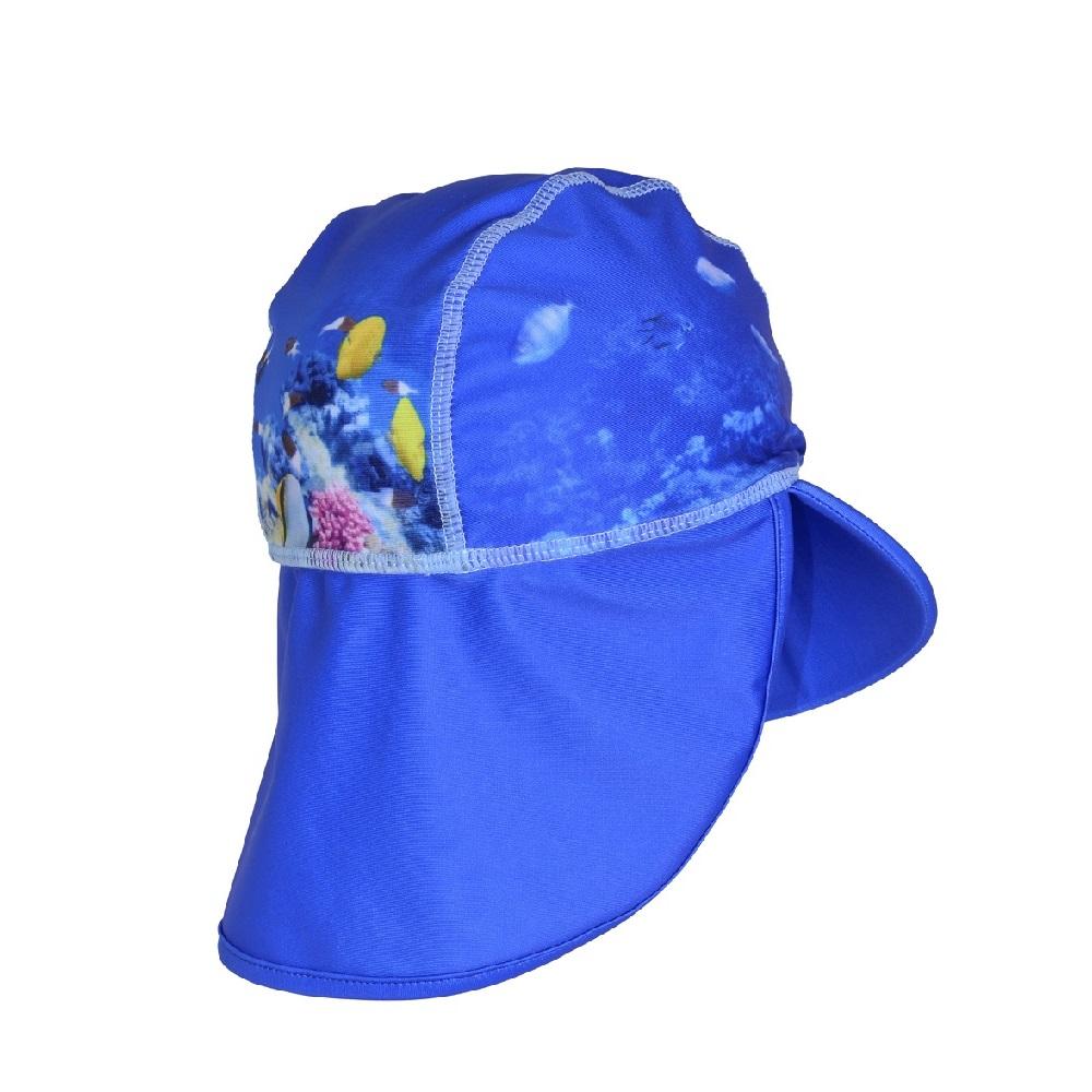 UV-hatt Swimpy Coral Reef blå