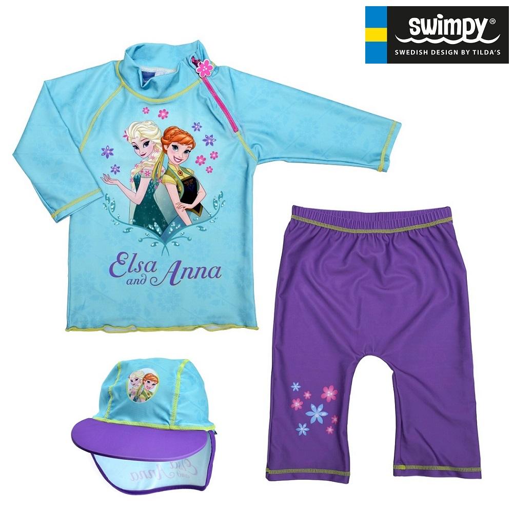 UV kläder barn Swimpy Frost Set med uv-tröja, uv-byxor och uv-hatt