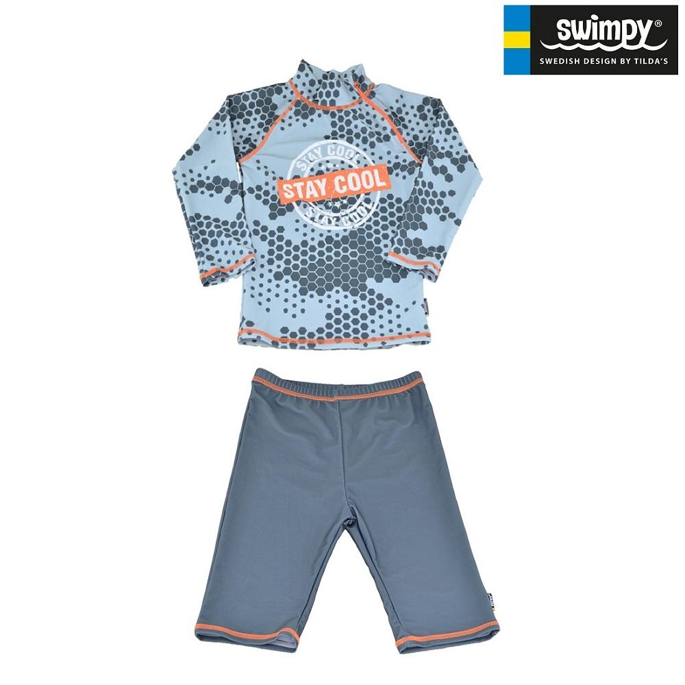 UV tröja och UV byxor Swimpy Stay Cool grå