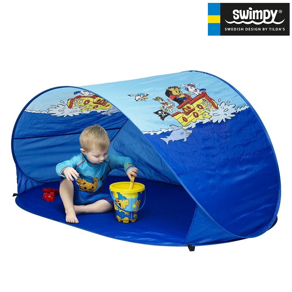 UV-tält Swimpy Bamse blå
