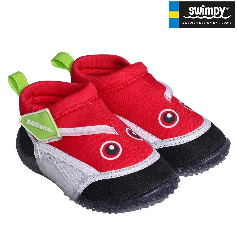 Badskor barn Swimpy Babblarna röda