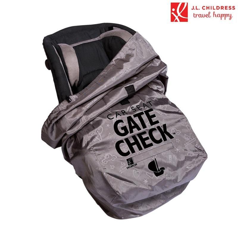Transportväska Bilbarrnstol JL Childress Gate Check Heavy Duty grå