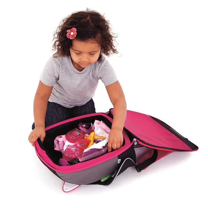 Trunki BoostApak kombinerad bältesstol och ryggsäck rosa