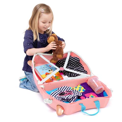 Resväska barn Trunki Flossi Flamingo