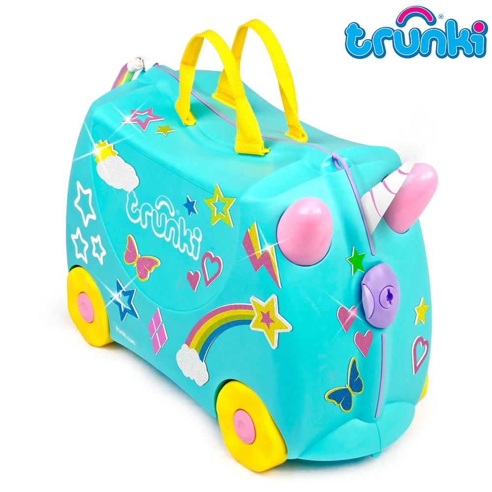 Resväska barn Trunki Unicorn med klistermärken