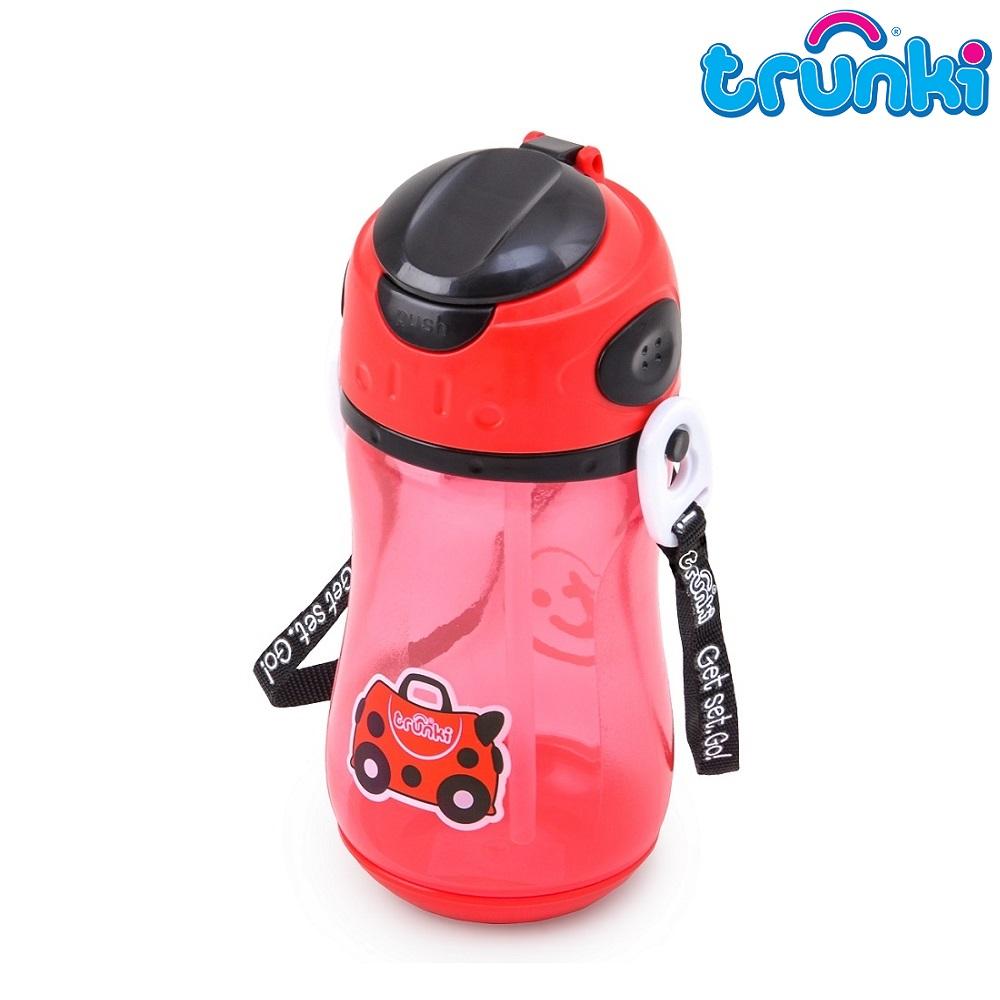 Vattenflaska barn Trunki Nyckelpiga röd 500 ml
