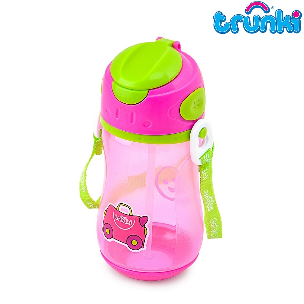 Vattenflaska barn Trunki Trixie rosa 500 ml