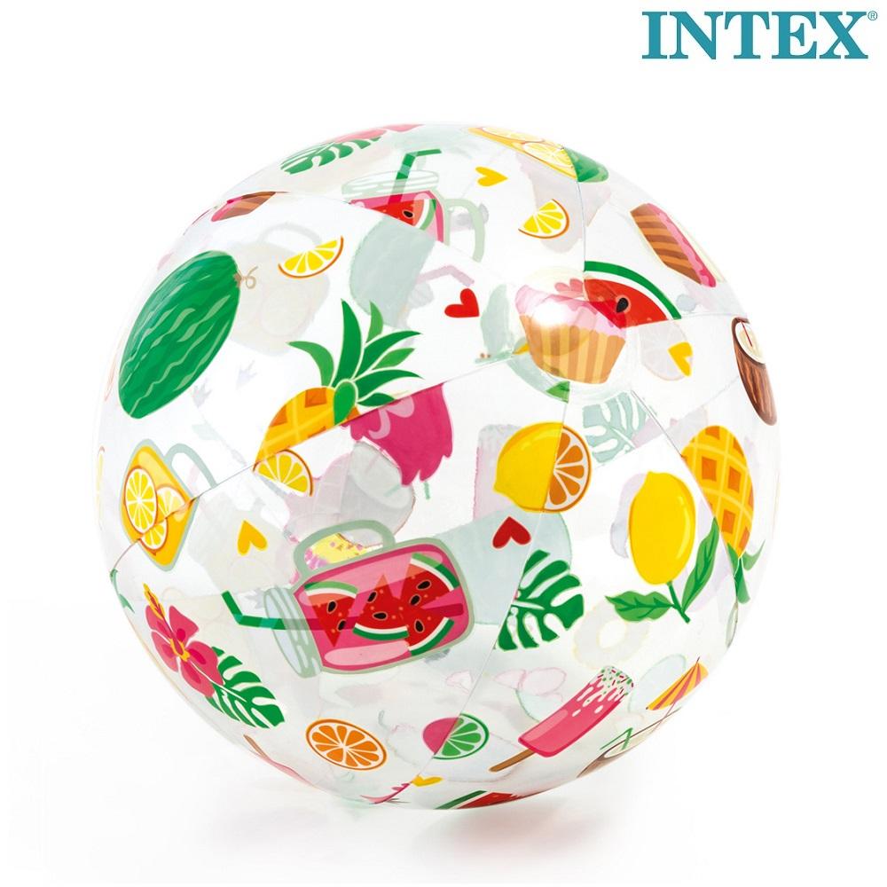 Uppblåsbar badboll Intex Tropcial Fruit
