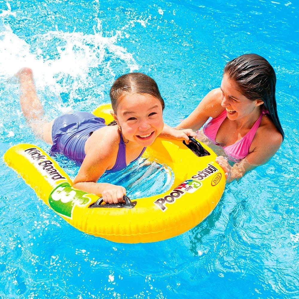 Uppblåsbar badmadras för barn Intex Kickboard