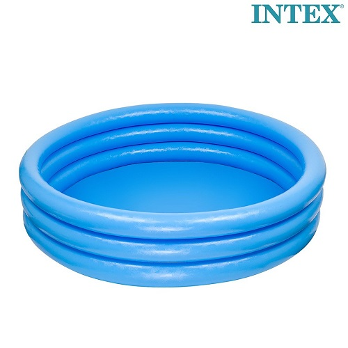 Uppblåsbar barnbassäng Intex Crystal Blue