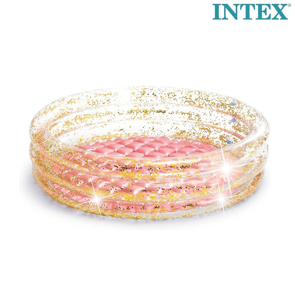 Uppblåsbar barnbassäng Intex Glitter