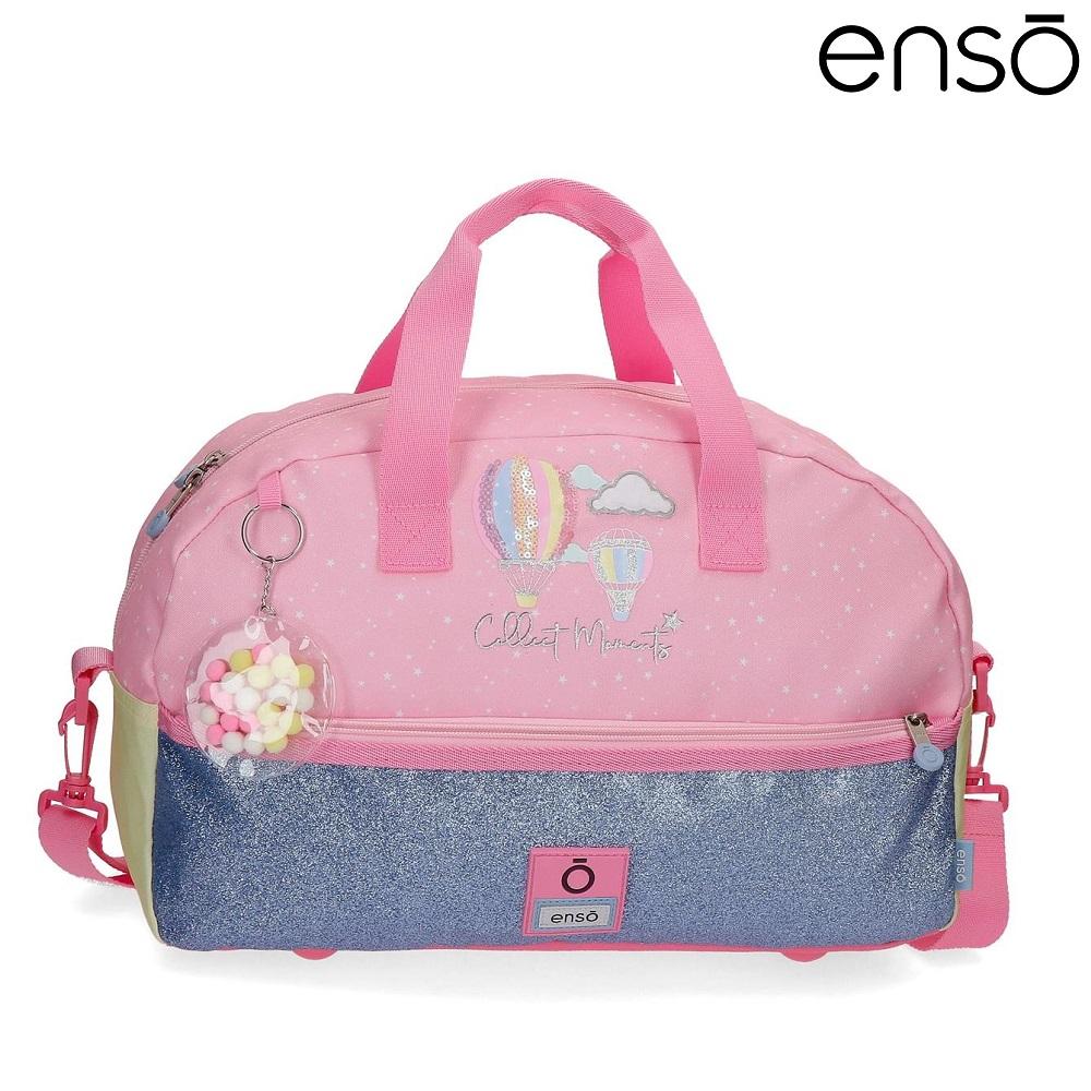 Enso barnväska Collect Moments resebag och sportväska för barn rosa och blå