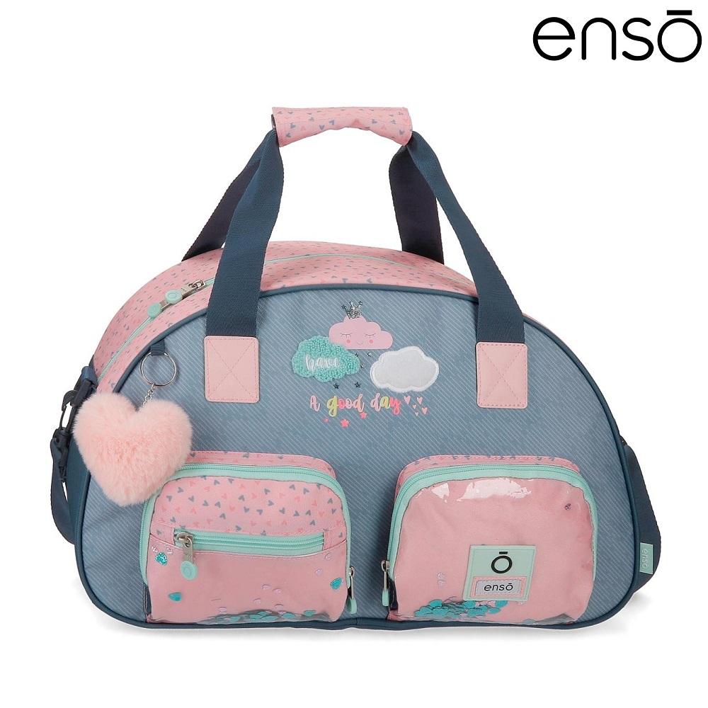 Enso barnväska Good Day resebag och sportväska för barn blå och rosa