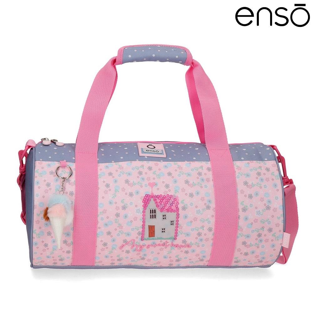 Enso barnväska My Sweet Home resebag och sportväska för barn rosa